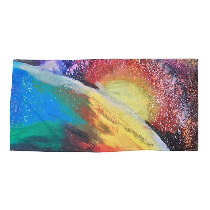 Beautiful Earth Accessories Beach Towel by Eva's Doodle & Paintings