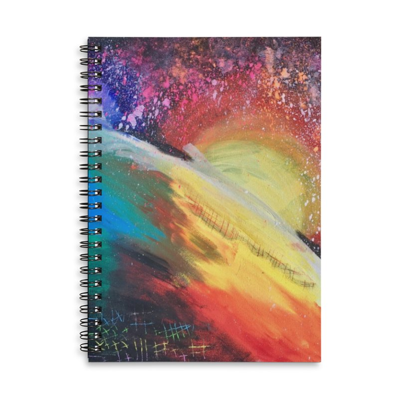 Beautiful Earth Accessories Lined Spiral Notebook by Eva's Doodle & Paintings