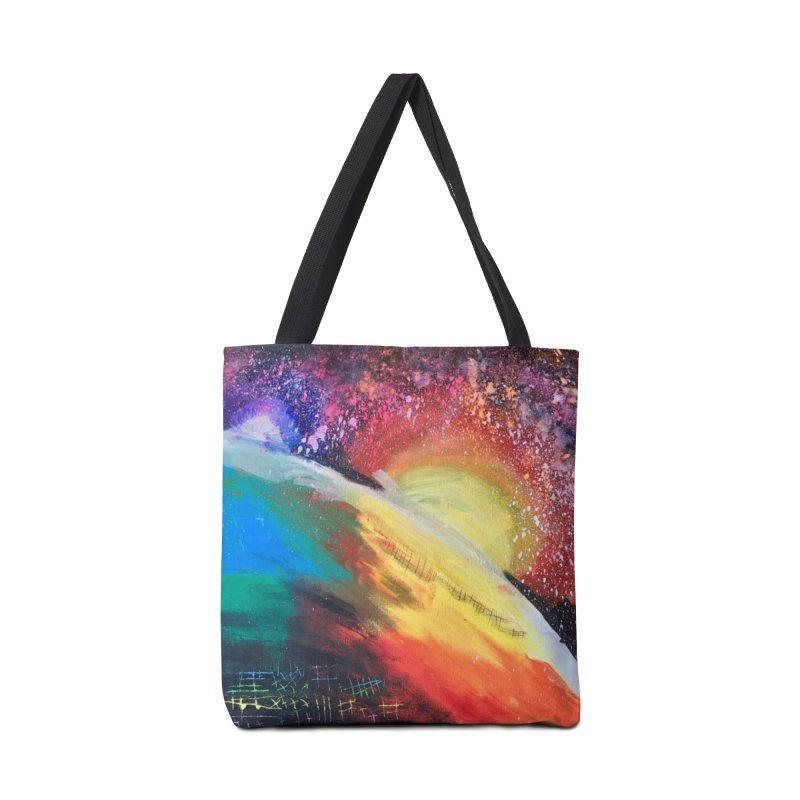 Beautiful Earth Accessories Tote Bag Bag by Eva's Doodle & Paintings