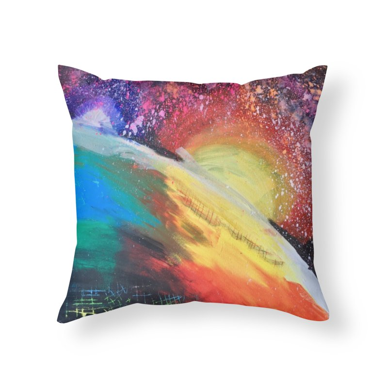 Beautiful Earth Home Throw Pillow by Eva's Doodle & Paintings