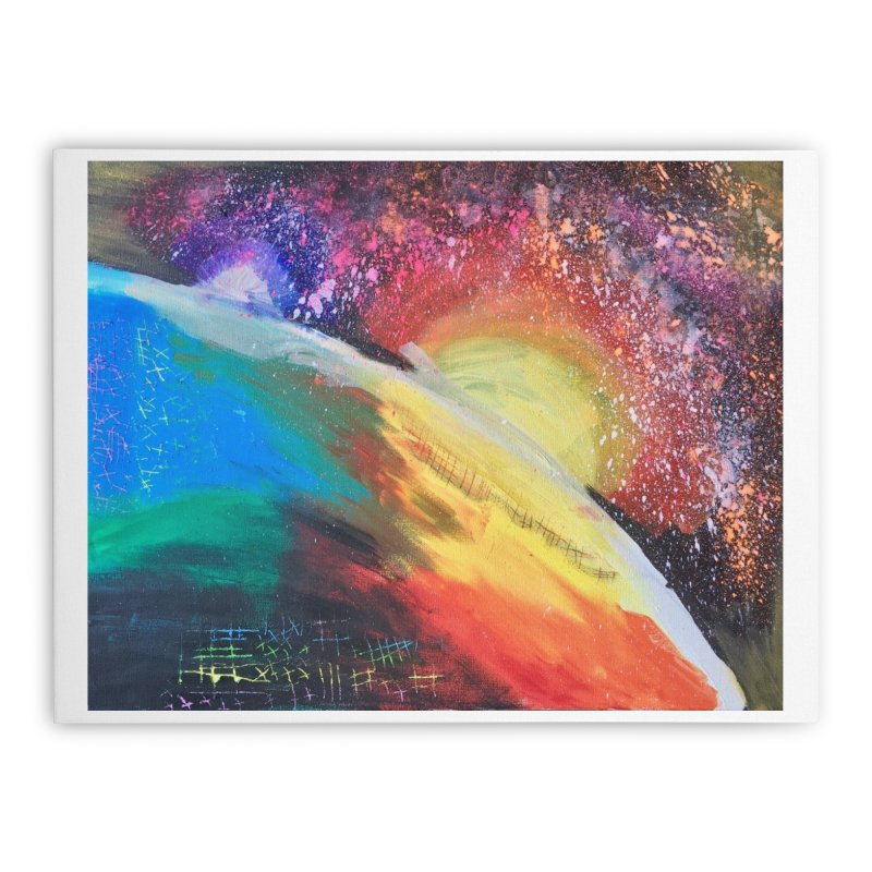 Beautiful Earth Home Stretched Canvas by Eva's Doodle & Paintings