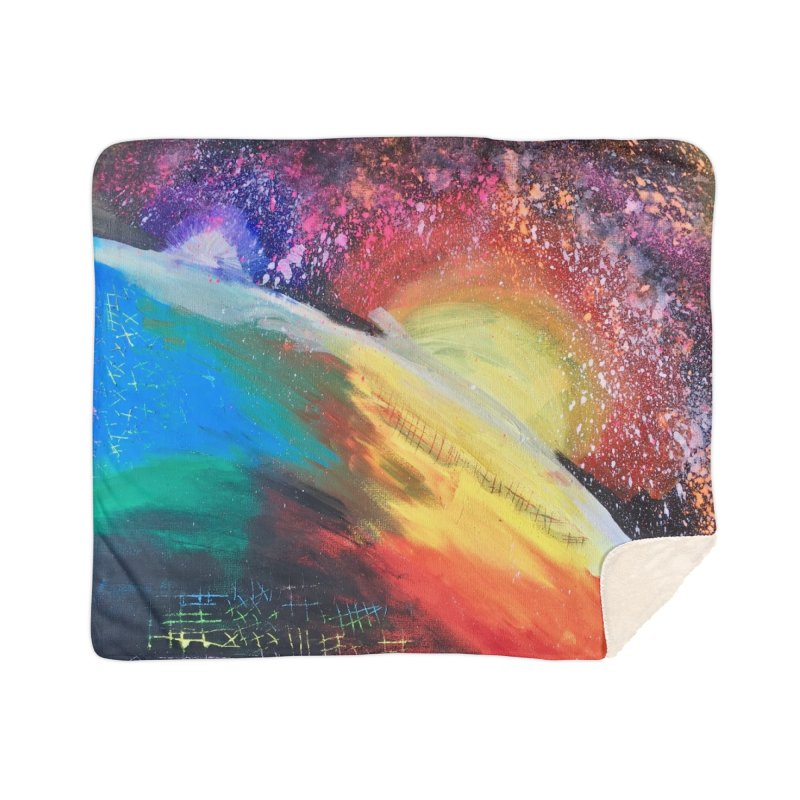 Beautiful Earth Home Blanket by Eva's Doodle & Paintings