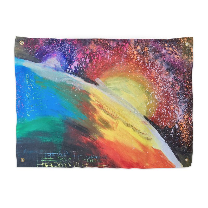 Beautiful Earth Home Tapestry by Eva's Doodle & Paintings