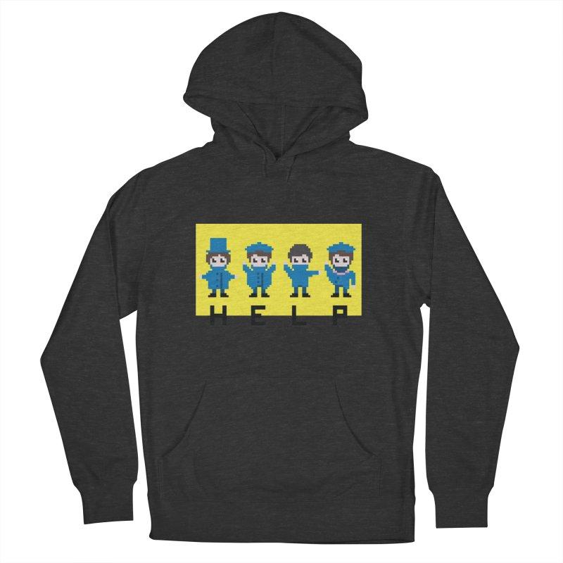 Help! Men's Pullover Hoody by Eu era pop - 8-bit pop culture :)