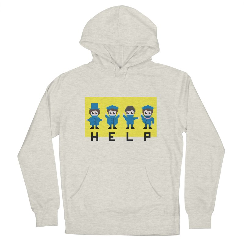 Help! Men's French Terry Pullover Hoody by Eu era pop - 8-bit pop culture :)