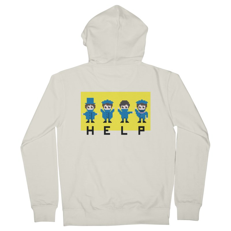 Help! Women's Zip-Up Hoody by Eu era pop - 8-bit pop culture :)