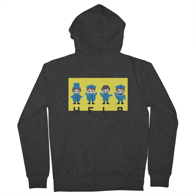 Help! Men's Zip-Up Hoody by Eu era pop - 8-bit pop culture :)