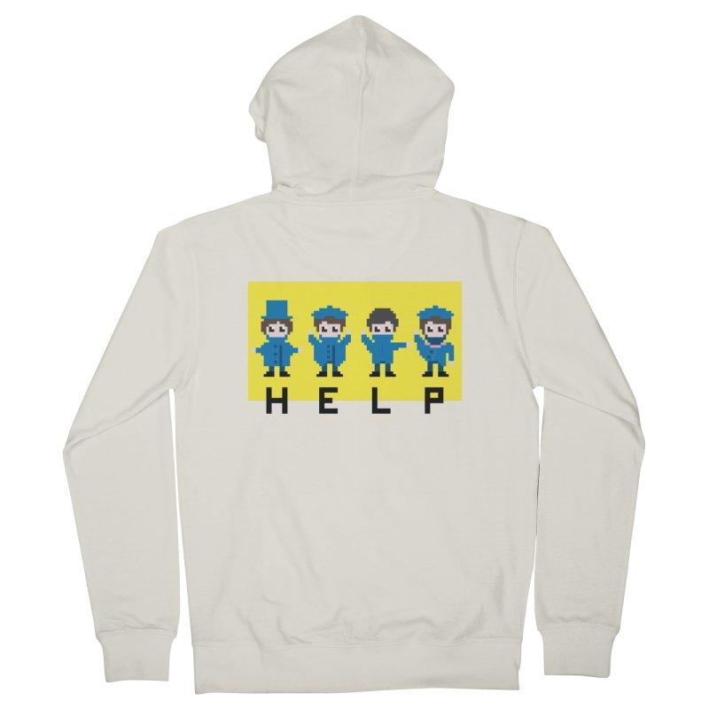Help! Men's Zip-Up Hoody by Eu era pop - 8-bit pop culture :)