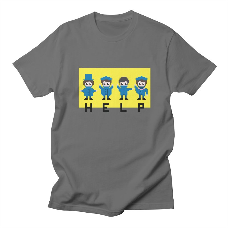 Help! Men's T-Shirt by Eu era pop - 8-bit pop culture :)