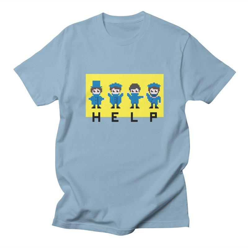 Help! Men's T-Shirt by Eu era pop - 8-bit pop culture :)