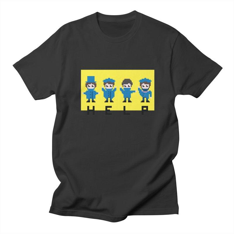 Help! Men's Regular T-Shirt by Eu era pop - 8-bit pop culture :)