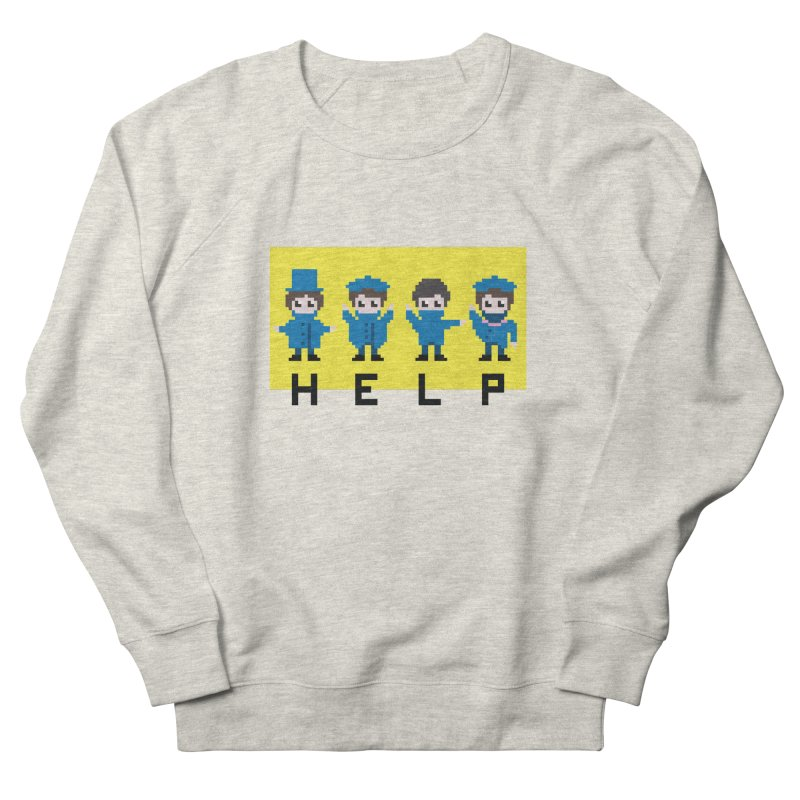 Help! Women's French Terry Sweatshirt by Eu era pop - 8-bit pop culture :)