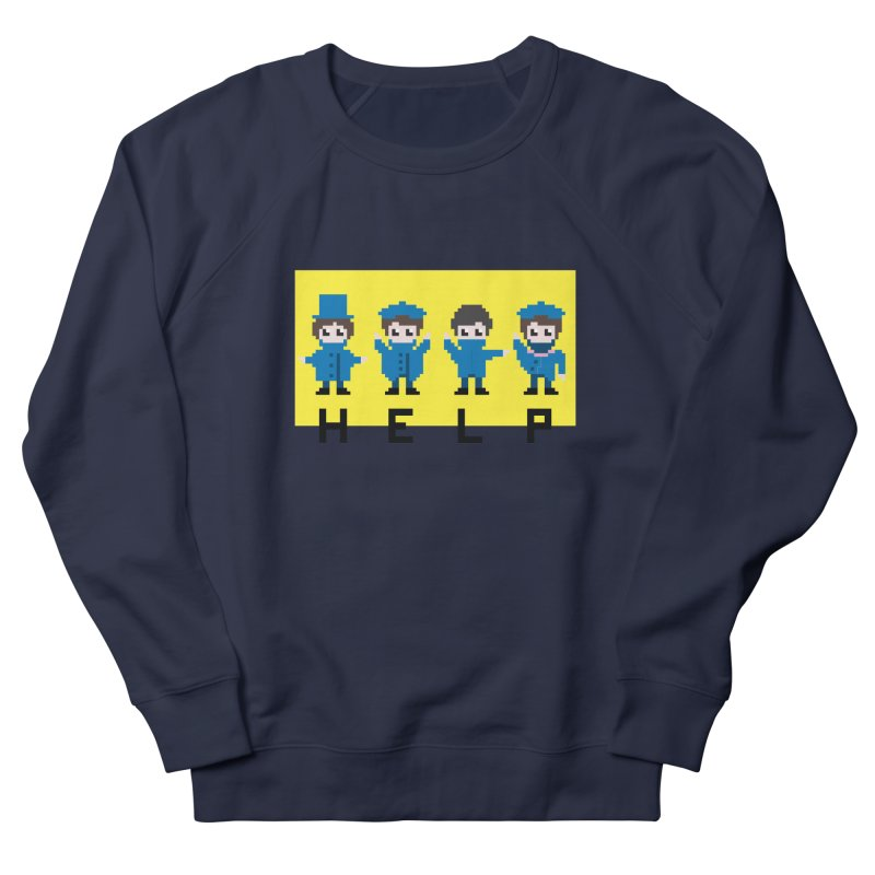 Help! Men's Sweatshirt by Eu era pop - 8-bit pop culture :)