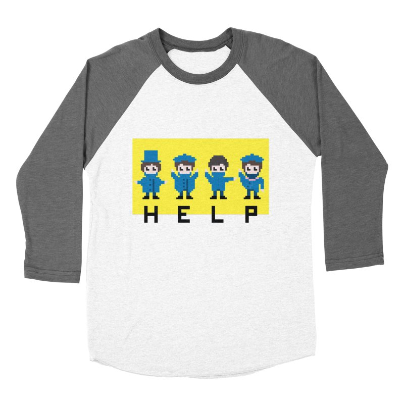 Help! Women's Baseball Triblend T-Shirt by Eu era pop - 8-bit pop culture :)