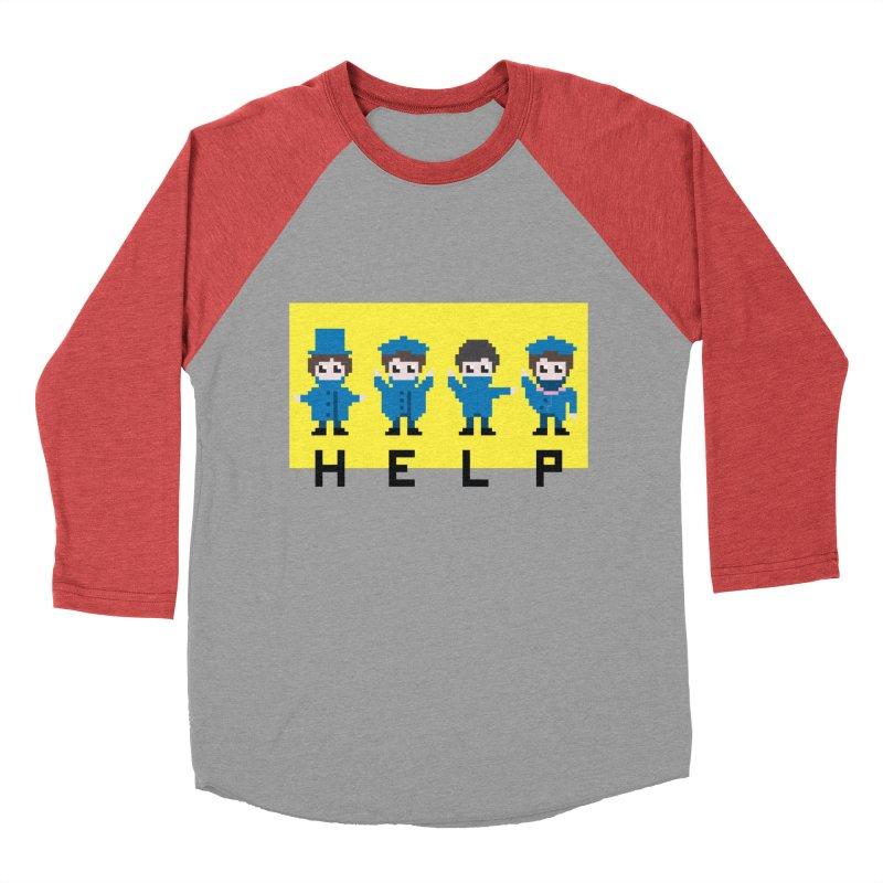 Help! Men's Baseball Triblend T-Shirt by Eu era pop - 8-bit pop culture :)