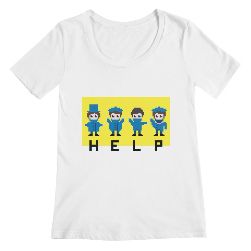Help! Women's Scoopneck by Eu era pop - 8-bit pop culture :)