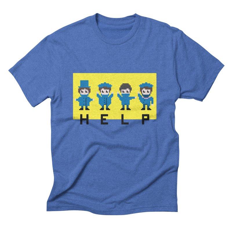 Help! Men's Triblend T-shirt by Eu era pop - 8-bit pop culture :)