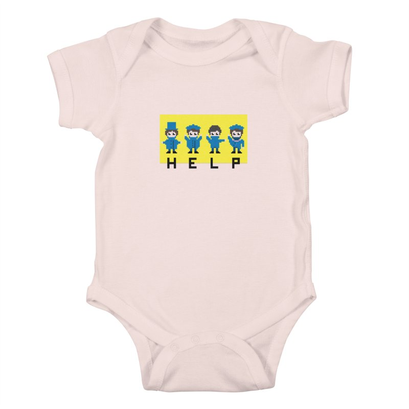 Help! Kids Baby Bodysuit by Eu era pop - 8-bit pop culture :)