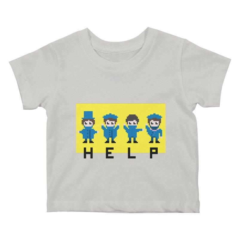 Help! Kids Baby T-Shirt by Eu era pop - 8-bit pop culture :)