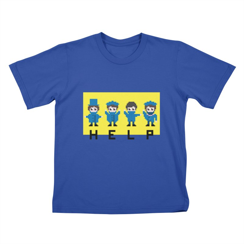 Help! Kids T-Shirt by Eu era pop - 8-bit pop culture :)