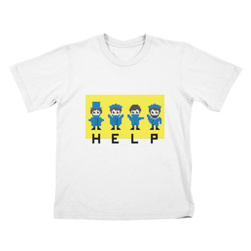 Help! Kids T-shirt by Eu era pop - 8-bit pop culture :)