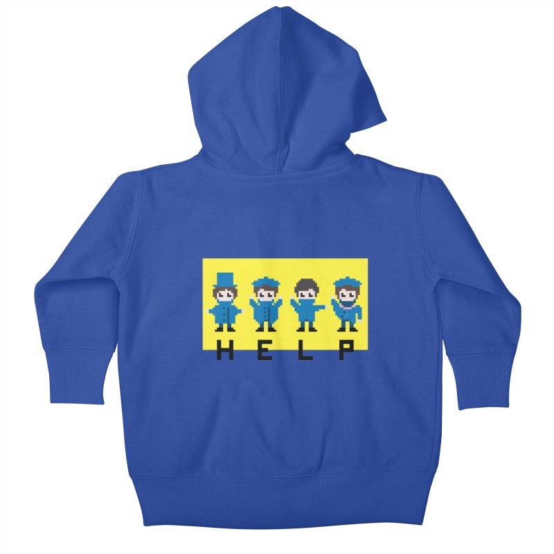 Help! Kids Baby Zip-Up Hoody by Eu era pop - 8-bit pop culture :)