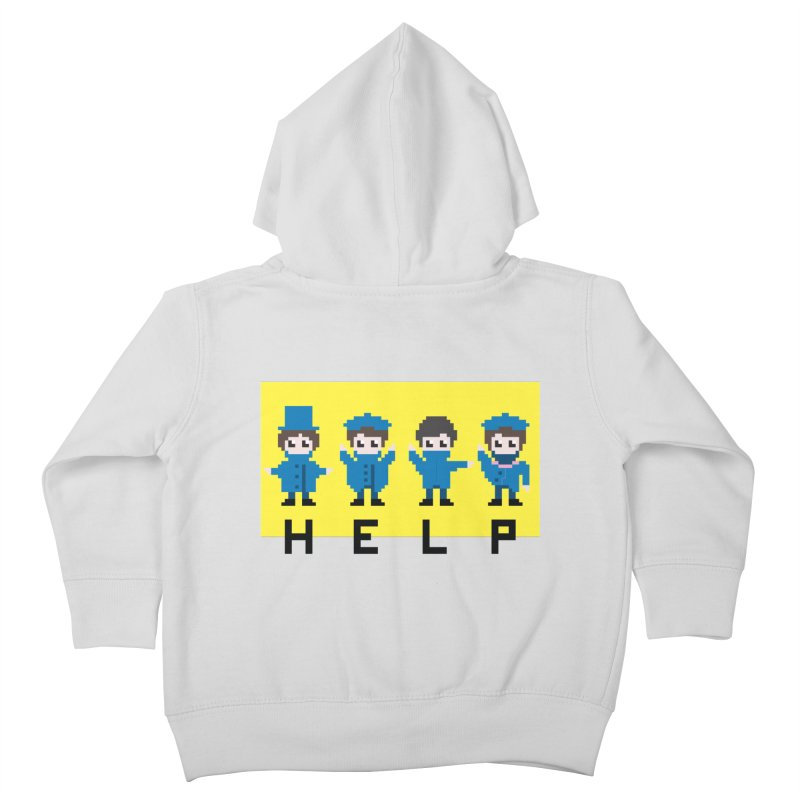 Help! Kids Toddler Zip-Up Hoody by Eu era pop - 8-bit pop culture :)