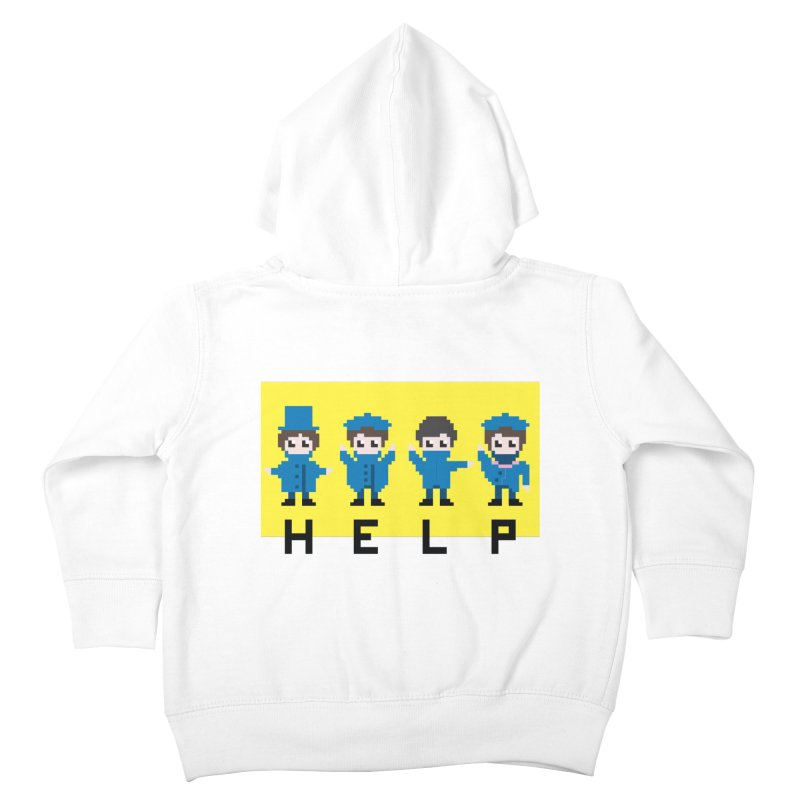 Help! Kids Toddler Zip-Up Hoody by Eu era pop - 8-bit pop culture :)