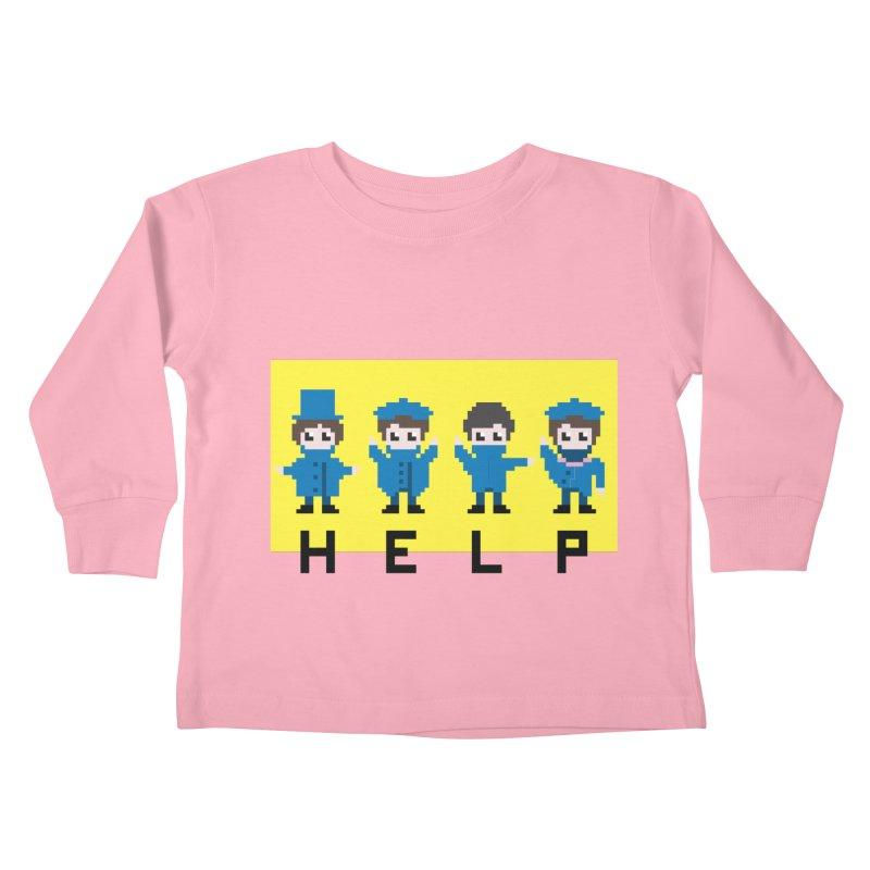 Help! Kids Toddler Longsleeve T-Shirt by Eu era pop - 8-bit pop culture :)