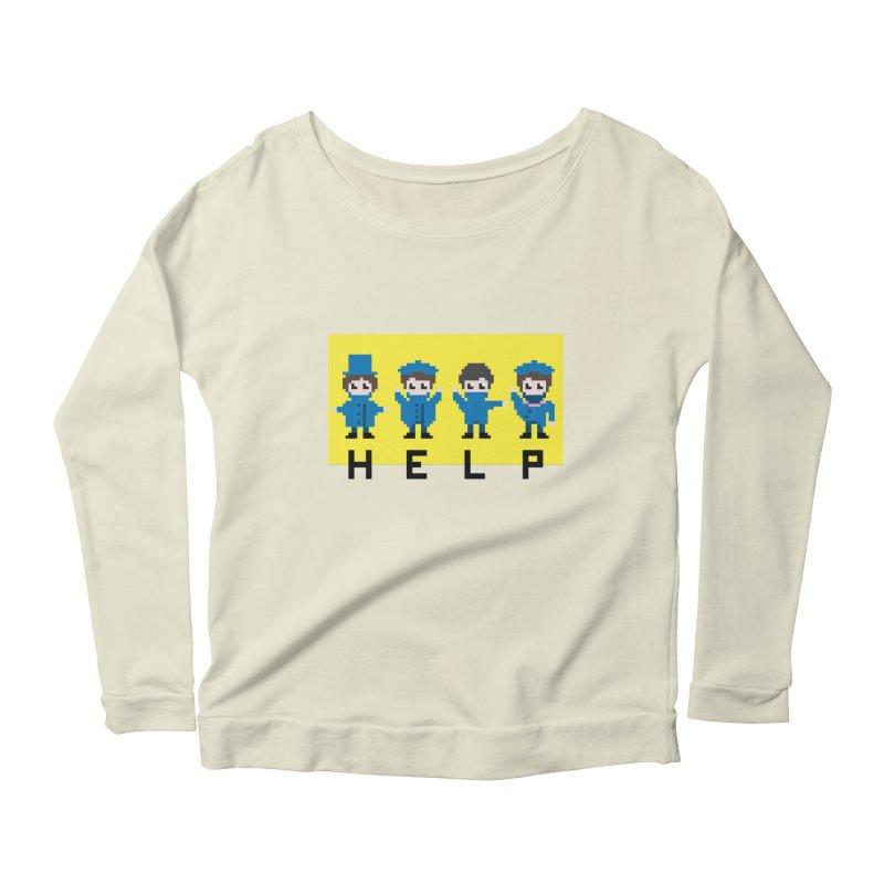 Help! Women's Scoop Neck Longsleeve T-Shirt by Eu era pop - 8-bit pop culture :)