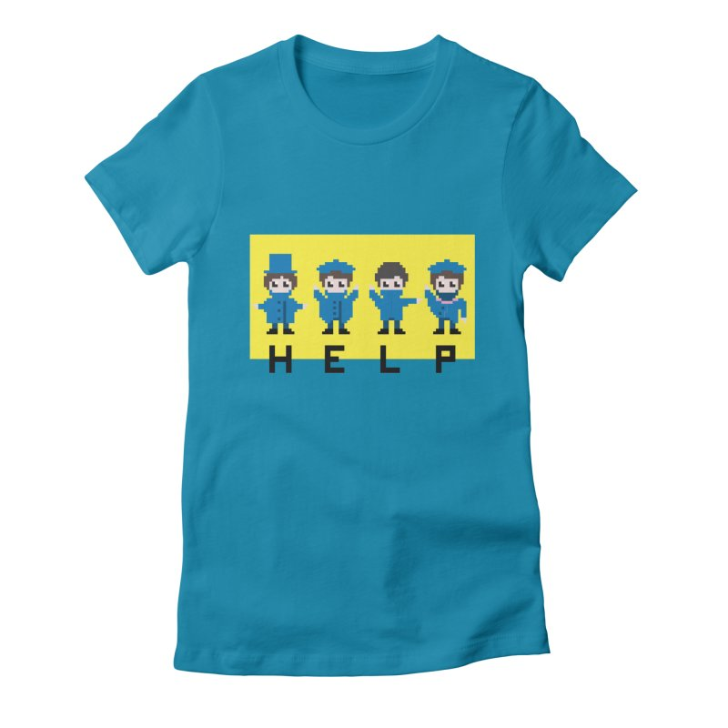Help! Women's Fitted T-Shirt by Eu era pop - 8-bit pop culture :)