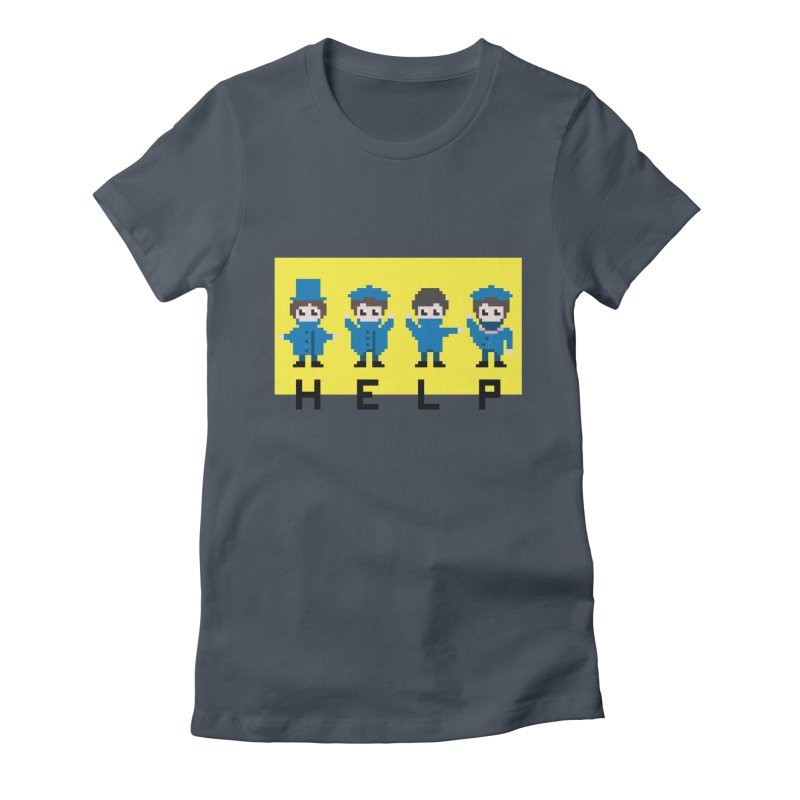 Help! Women's Fitted T-Shirt by Eu era pop - 8-bit pop culture :)
