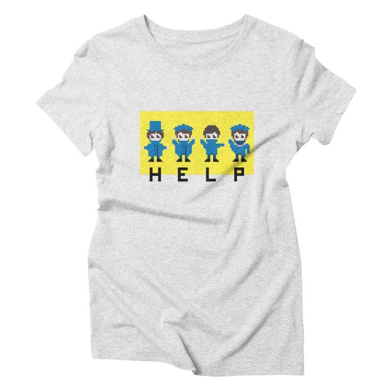 Help! Women's Triblend T-Shirt by Eu era pop - 8-bit pop culture :)