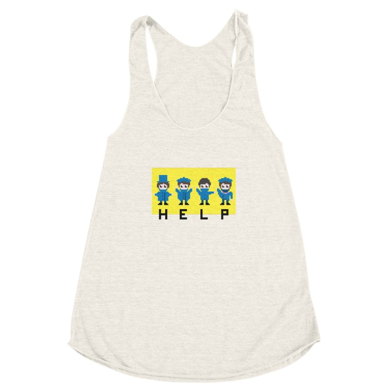 Help! Women's Racerback Triblend Tank by Eu era pop - 8-bit pop culture :)