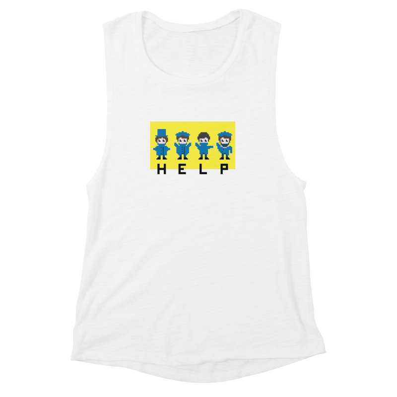 Help! Women's Muscle Tank by Eu era pop - 8-bit pop culture :)