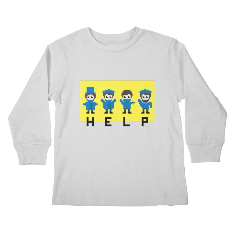 Help! Kids Longsleeve T-Shirt by Eu era pop - 8-bit pop culture :)