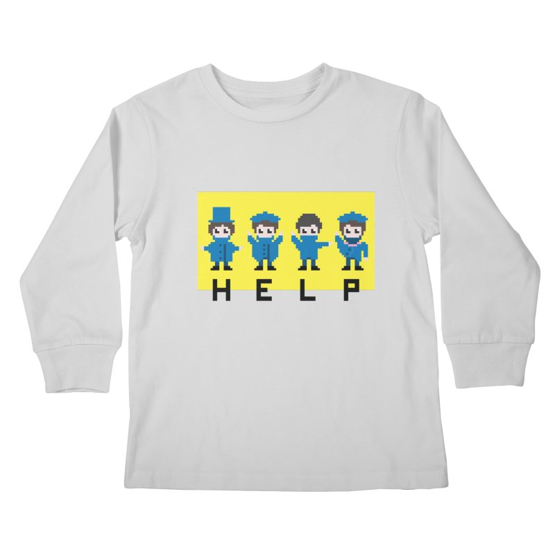 Help! Kids Longsleeve T-Shirt by Eu era pop - 8-bit pop culture :)