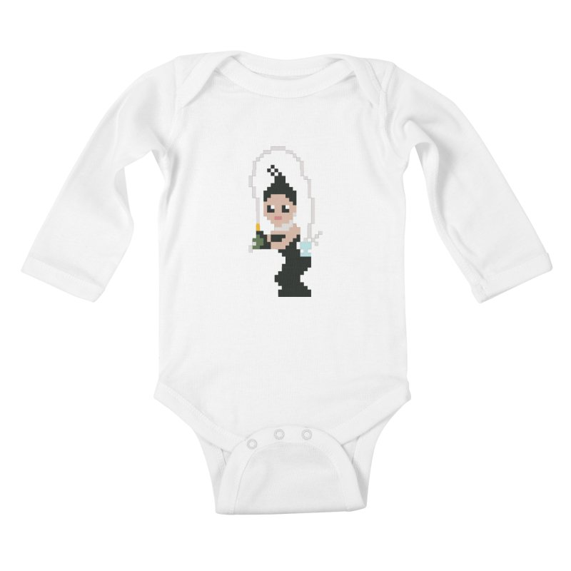 Kim K breaking the internet Kids Baby Longsleeve Bodysuit by Eu era pop - 8-bit pop culture :)