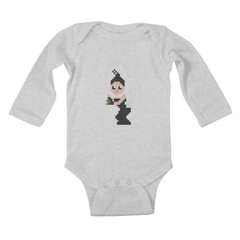 Kim K breaking the internet Kids Baby Longsleeve Bodysuit by Eu era pop - 8-bit pop culture :)