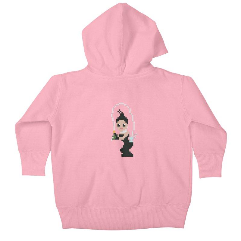 Kim K breaking the internet Kids Baby Zip-Up Hoody by Eu era pop - 8-bit pop culture :)