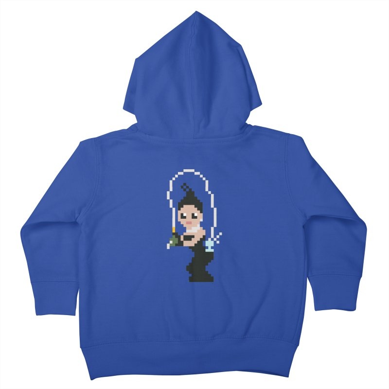 Kim K breaking the internet Kids Toddler Zip-Up Hoody by Eu era pop - 8-bit pop culture :)