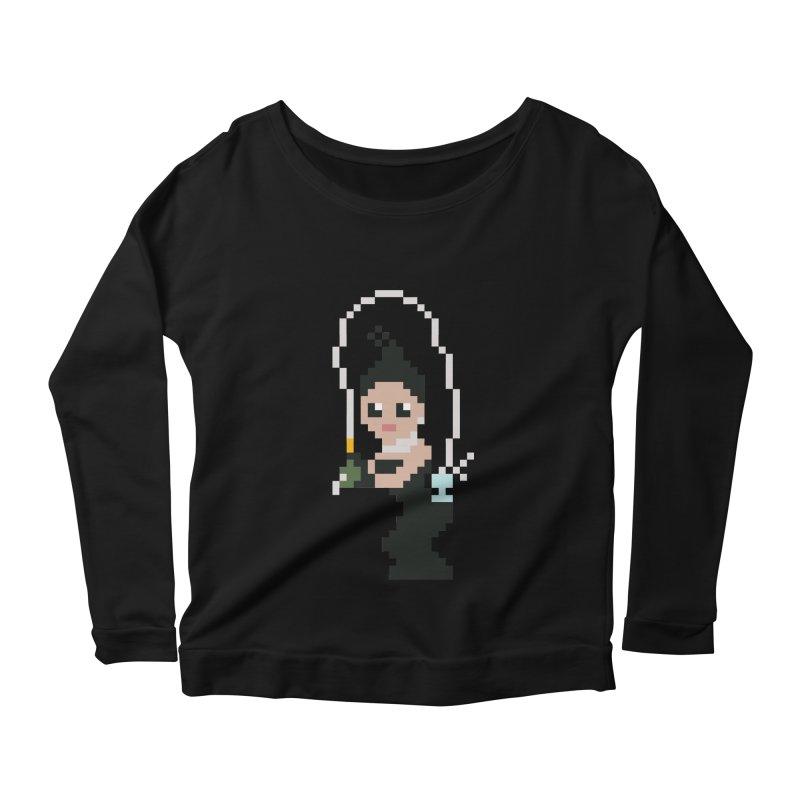 Kim K breaking the internet Women's Scoop Neck Longsleeve T-Shirt by Eu era pop - 8-bit pop culture :)