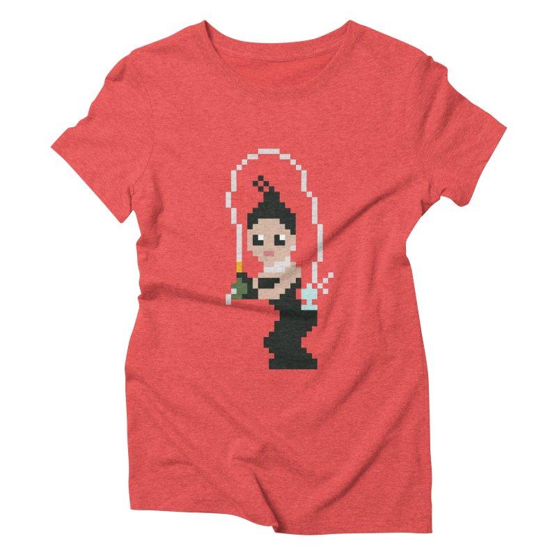 Kim K breaking the internet Women's Triblend T-shirt by Eu era pop - 8-bit pop culture :)