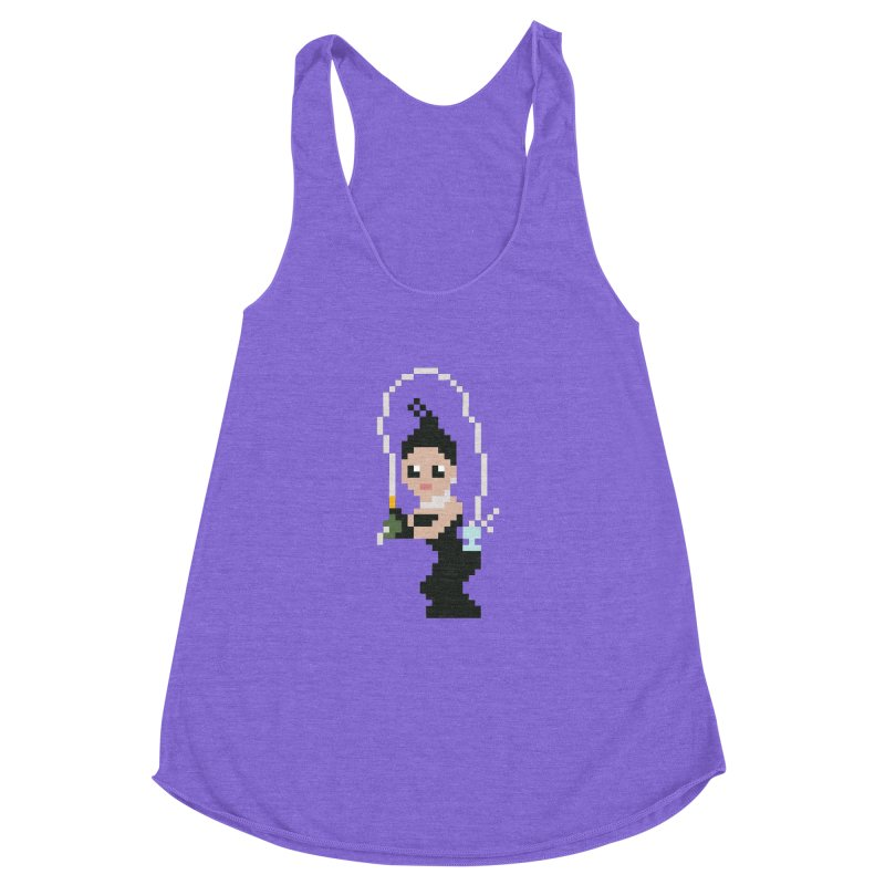 Kim K breaking the internet Women's Racerback Triblend Tank by Eu era pop - 8-bit pop culture :)