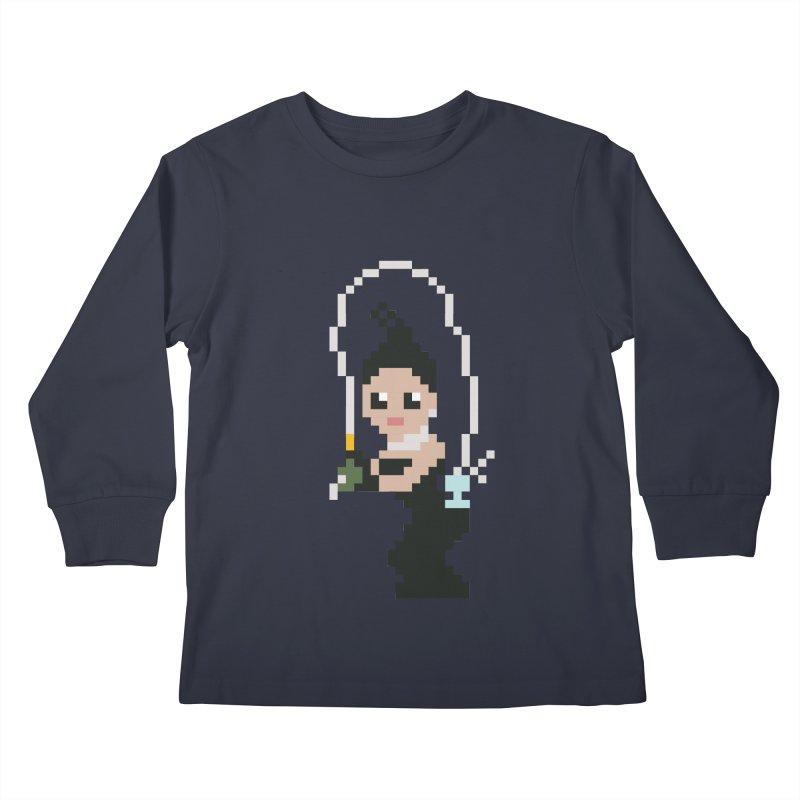 Kim K breaking the internet Kids Longsleeve T-Shirt by Eu era pop - 8-bit pop culture :)
