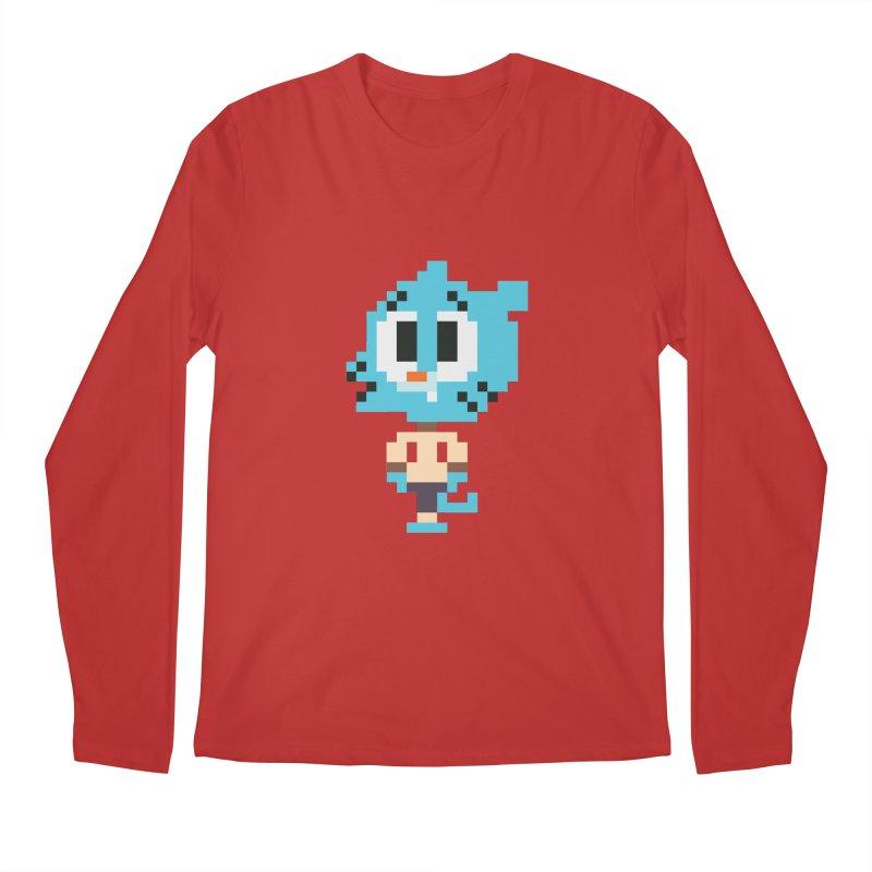 Amazing World! Men's Regular Longsleeve T-Shirt by Eu era pop - 8-bit pop culture :)
