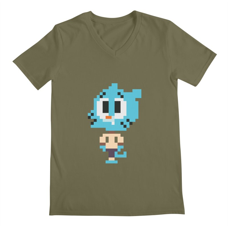 Amazing World! Men's V-Neck by Eu era pop - 8-bit pop culture :)