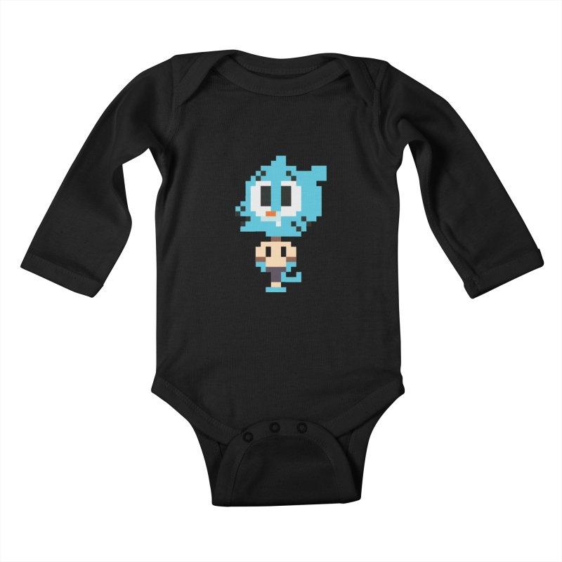 Amazing World! Kids Baby Longsleeve Bodysuit by Eu era pop - 8-bit pop culture :)
