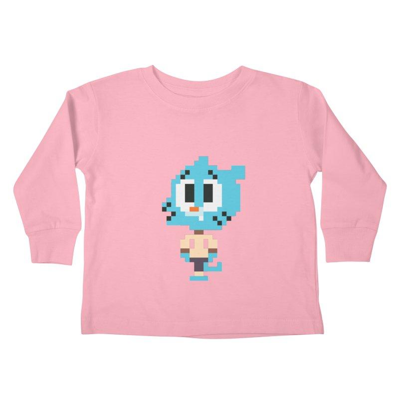 Amazing World! Kids Toddler Longsleeve T-Shirt by Eu era pop - 8-bit pop culture :)
