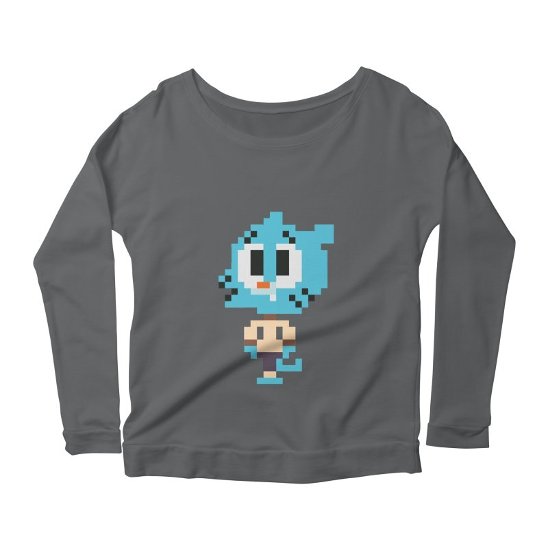 Amazing World! Women's Scoop Neck Longsleeve T-Shirt by Eu era pop - 8-bit pop culture :)